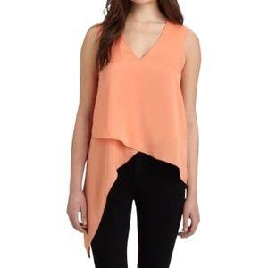 BCBG MAXAZRIA Nikko Orange Asymmetrical Top
